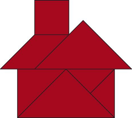 Tangram ein legespiel for Haus formen
